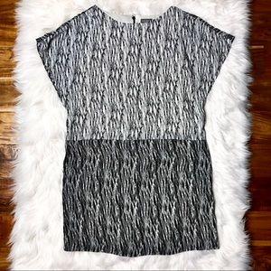 VINCE CAMUTO Black & White printed Sheath dress XL